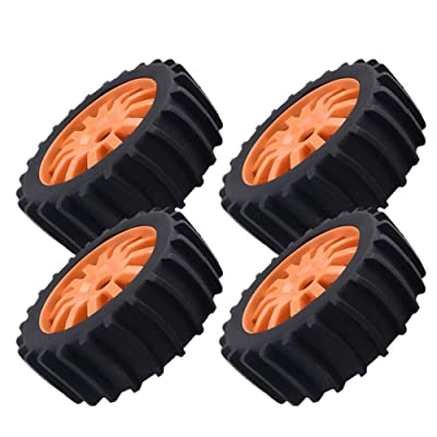 4pcs 1/8 RC Off Road Buggy Snow Sand Paddle Neumáticos Rueda 17mm para HSP HPI Baja: Hogar