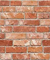 Vintage Brick Pattern Contact Paper Self-adhesive Peel-stick Prepasted Wallpaper 19.6 Inch By 9.8 Ft