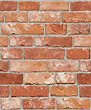 Vintage Brick Pattern Interior Film Self-adhesive Peel-stick Prepasted Wallpaper 19.6 Inch By 9.8 Ft