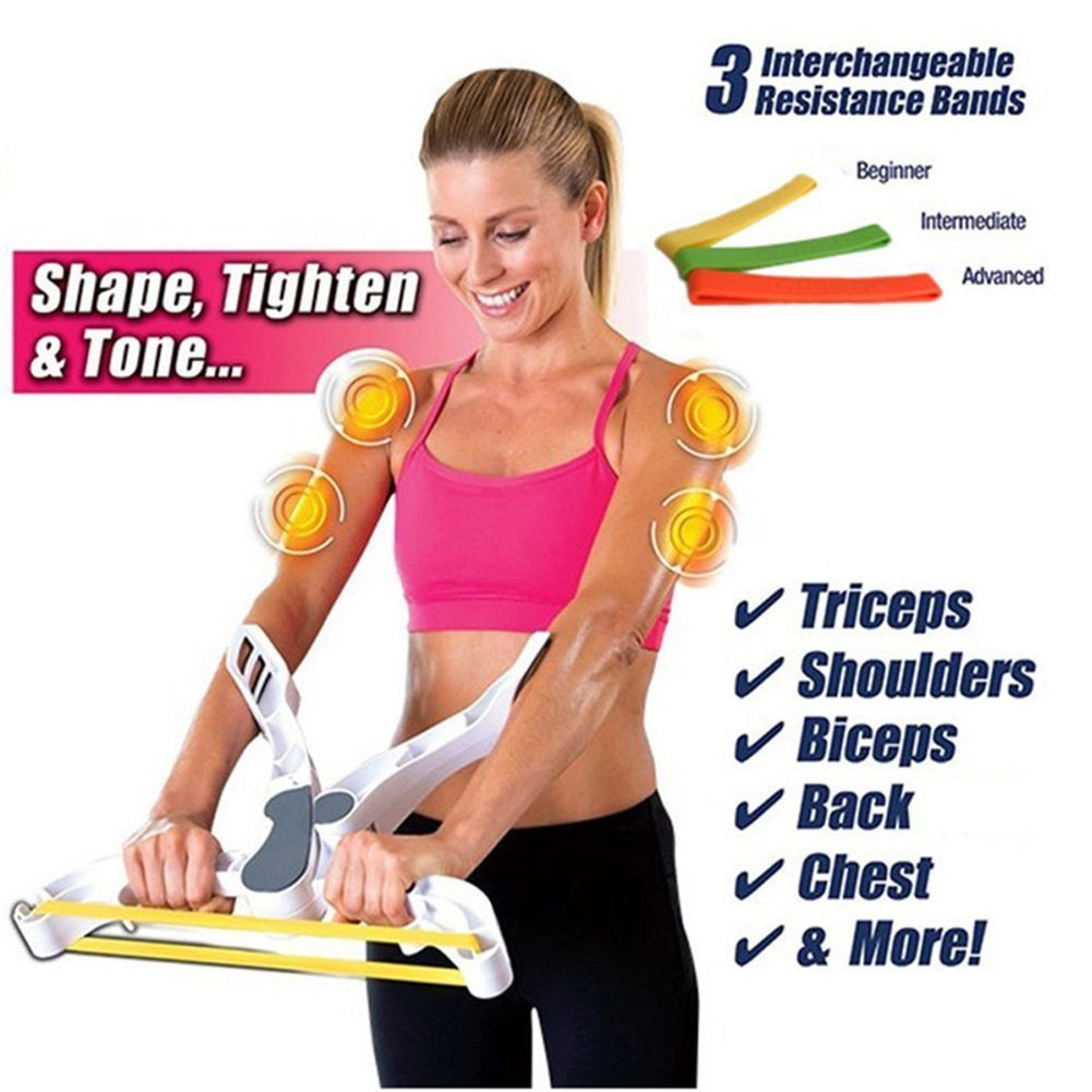 Lihin Christmas Indoor Decoration Exercise Band Strengthens Machine Body Wonder Arms Fitness Equipment Shoulders Chest Back Fitness Muscle Exerciser