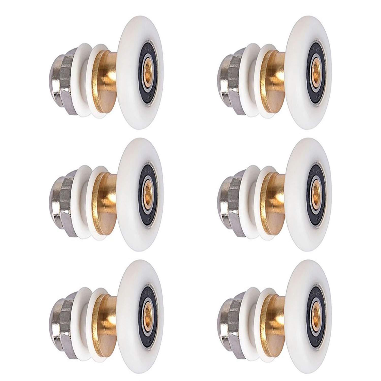 LESOLEIL Rodillos de Repuesto Para Puerta de Ducha Lote de 6 25mm