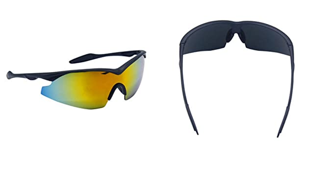 921e6358c1b TAC GLASSES by Bell+Howell Sports Polarized Sunglasses - Military-Inspired  Mirrored Integrated Polarized Lens for Men Women Running Cycling Fishing   ...