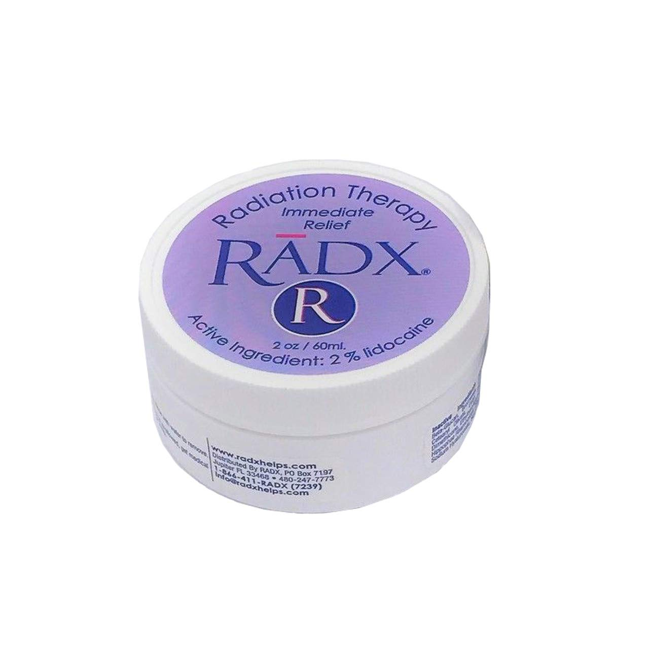 Radx - Oncology Therapy Cream with 2% Lidocaine, Burn Relief, Chemo and Radiation Skin Care - 2 Ounce jar by RADX