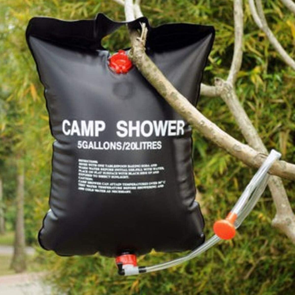 20 l Escursionismo Impermeabile Kuiji Arrampicata Borsa da Doccia a energia Solare per Campeggio