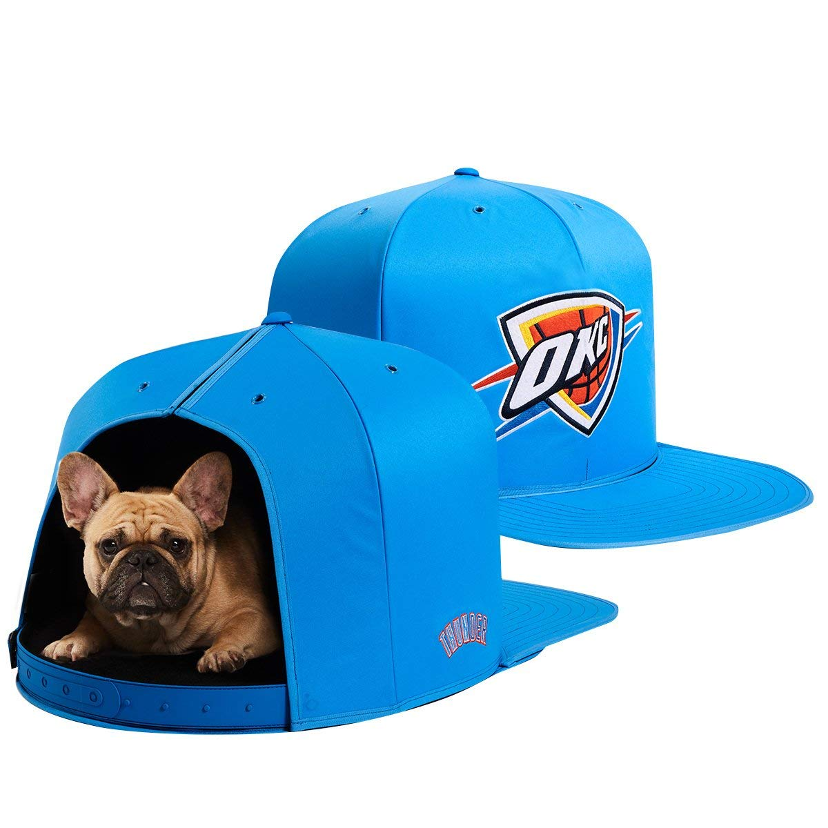 NAP CAP NBA Oklahoma City Thunder Team Indoor Pet Bed, Blue (Medium)
