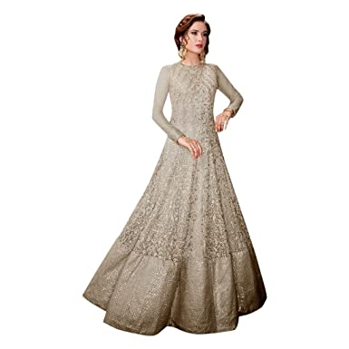 b62ba46f3 Amazon.com: Bollywood Heavy Work Bridal Christian Gown Suit Muslim Wedding  Custom to Measure Eid Indian 2515: Clothing