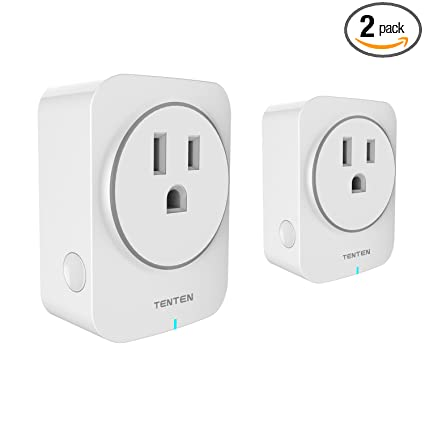 Tenten SO2-US WiFi Enabled 15A Smart Plug work with Amazon Alexa & Google  Assistant, No Hub Required, Remote and Voice Control Your Your, 2 Pack,