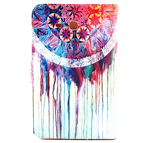 Noarks-GeBox(TM) New Book Flip Colorful Print Dream Catcher PU Leather Wallet Case for Samsung Galaxy Tab 3 Lite 7.0 Folio Pro Case Cover for SM-T110