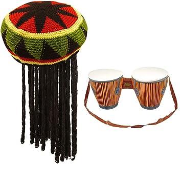 Amazon.com: Rimi Hanger Jamaican Rasta - Gorro con ...