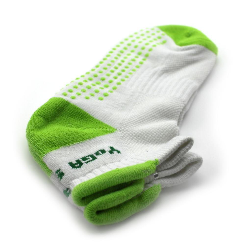 Nouveau chaussette antidérapant exercice de yoga professionnelle pour les femmes Green DDU