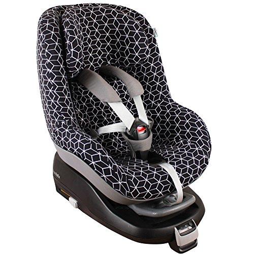 Housse de siège auto pour Maxi-Cosi (2Way) Pearl - Noir/Blanc ♥♥♥