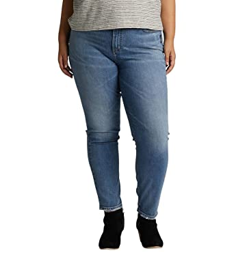 3479ce935f0 Amazon.com: Silver Jeans Co. Women's Plus Size Frisco Vintage High Rise  Tapered Leg Jeans: Clothing