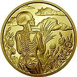 SkullCoins VIRGO 1/10 oz Gold Round 24k - 2015 Memento Mori Zodiac Series #8 - Low Mintage of Only 99 Pieces