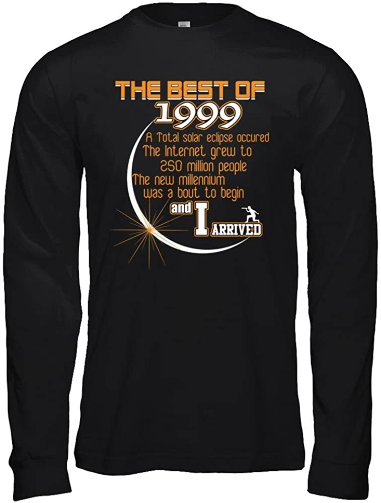 Unisex Jersey Long Sleeve Tee Teely Shop Men/'s Beautiful Solar Eclipse 1999 Graphic I Arrived Bella Canvas