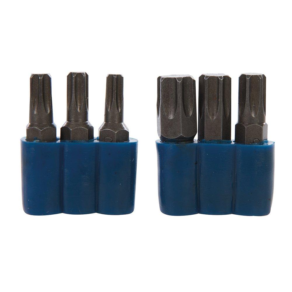 Silverline 577974 Embouts pour Tournevis /à chocs 6 pi/èces Bleu