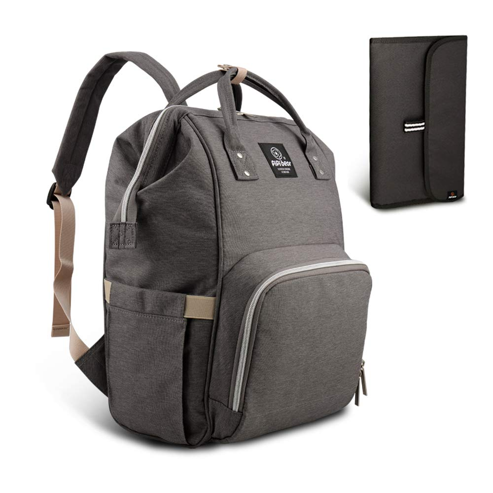HEYI Mutifunktionale Wickeltasche Rucksack, Wasserdichte Wickelrucksack Tasche, Große Reisetasche für Mutter und Baby(Grau) product image
