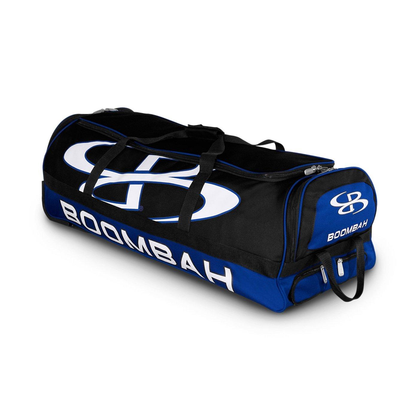 (ブームバー) Boombah Bruteシリーズ キャスター付きバットケース 野球ソフトボール用 35×15×12–1/2インチ 49色展開 4本のバットと用具を収納可能 B01MSOL7AX ブラック/ロイヤル(royal) ブラック/ロイヤル(royal)