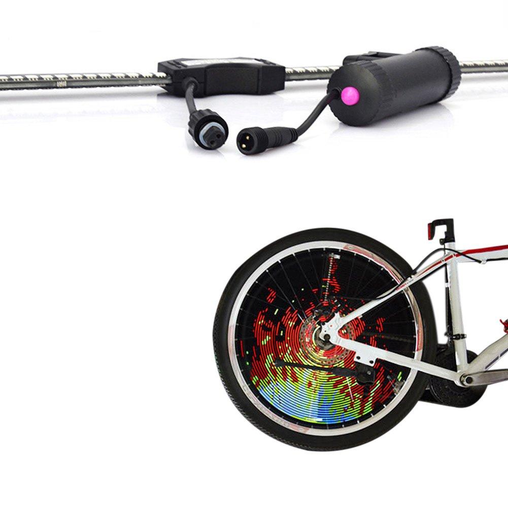 Fishoo DIY LED Bike Wheel Spoke Light USB Rechargeable Bicycle Waterproof Rim Night Riding Accessories by Fishoo