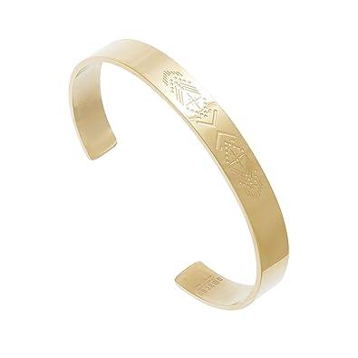 tout neuf f12bf 348c8 Bracelet jonc Flèche gravée (doré), Omacoo: Amazon.fr: Bijoux