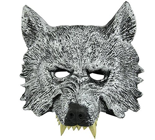 Uesae Halloween Masks Adults Wolf Mask Black Halloween Decorations Costume Party Cosplay Carnival Accessory Make up Theme Party -