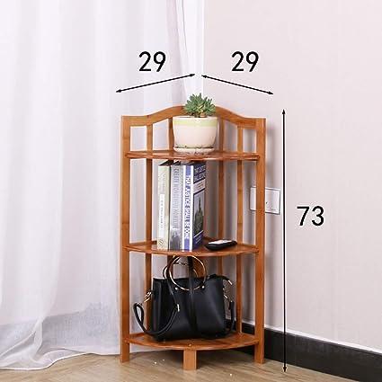 estantería Duo baldas Estante de Esquina Independiente Estante de Esquina Organizador de Torre Torre Sala de
