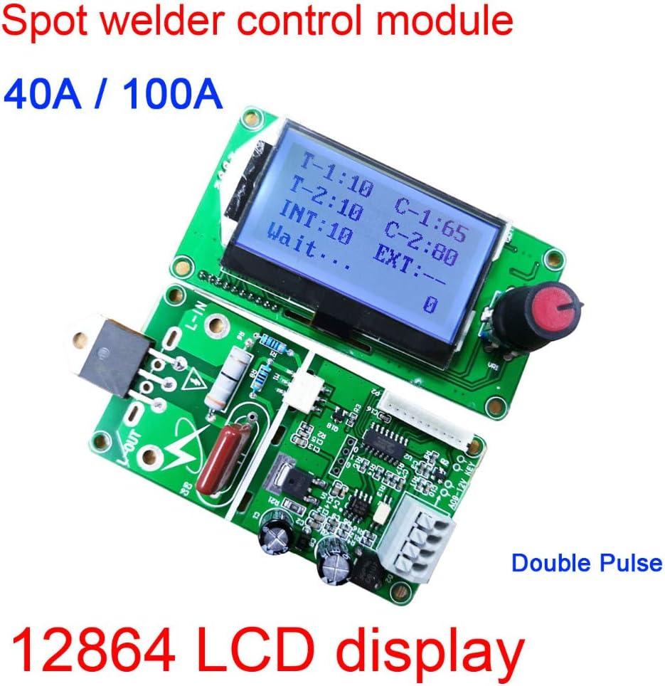 40A Double Pulse Encoder Digital 12864 LCD Spot Welder Machine Control Board