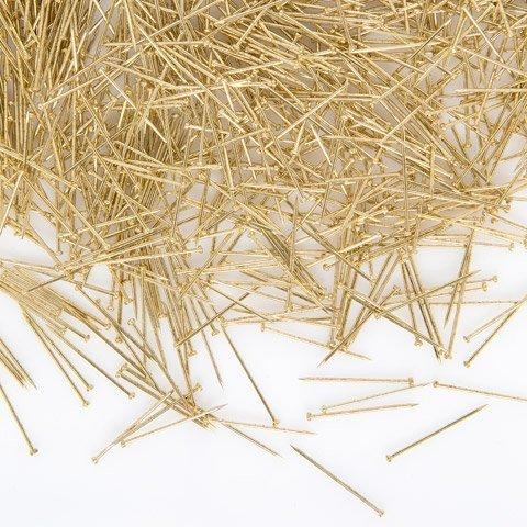 Bulk Buy: Darice DIY Crafts Sequin Pins Gold 3/4 inch 100 grams (3-Pack 38046 by Darice