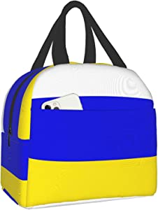 Reusable Tote Lunch Bag,Leeds United Tricolourwaterproof Insulated Cooler Lunch box Lunch Bags Luch Container for Office School Picnic Beach Workout