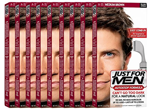 Just For Men AutoStop Men's Hair Color (9, Medium Brown) by Just for Men