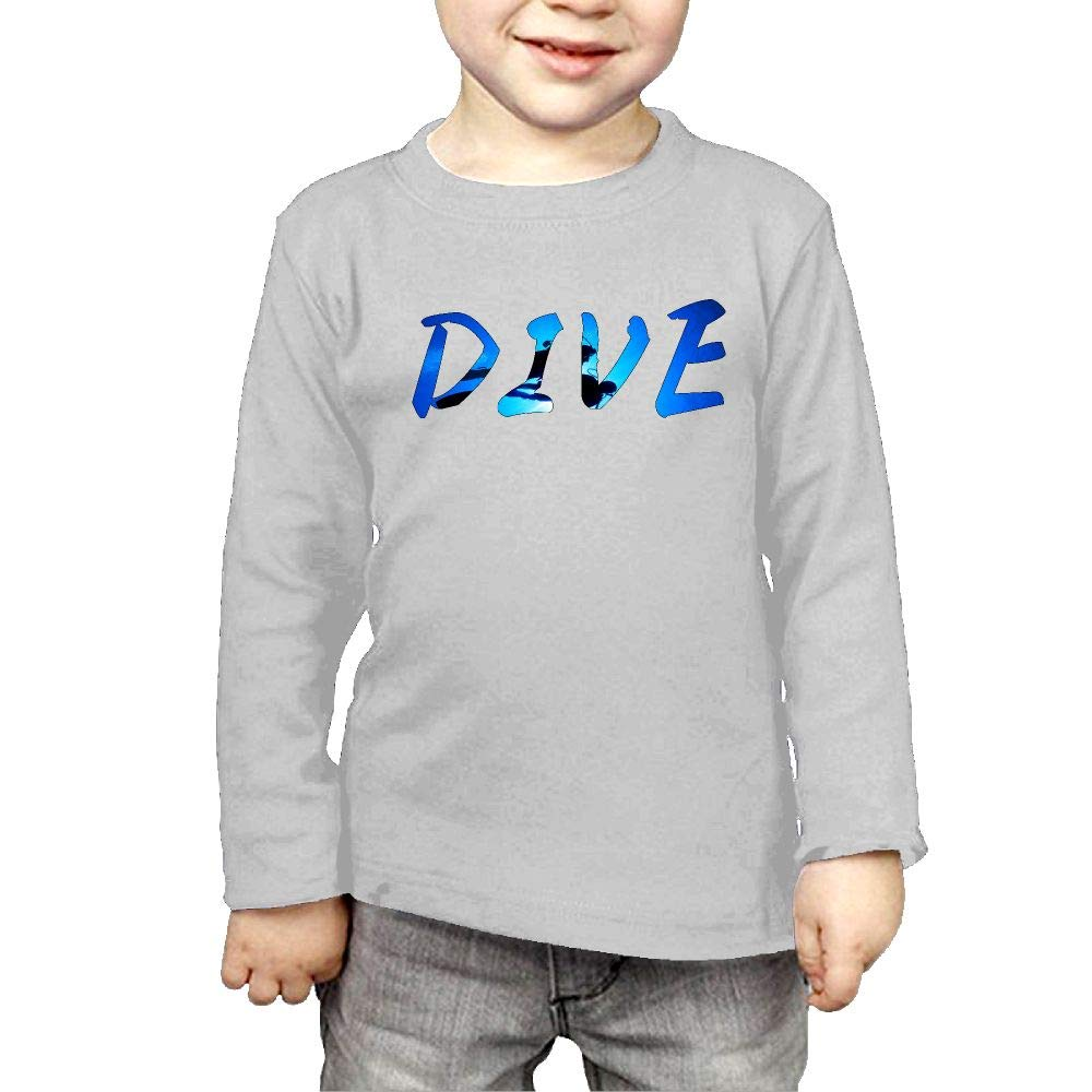 Fryhyu8 Toddler Childrens Scuba Diving Divers Shadow Deep Swim DIV Printed Long Sleeve 100/% Cotton Infants Clothes