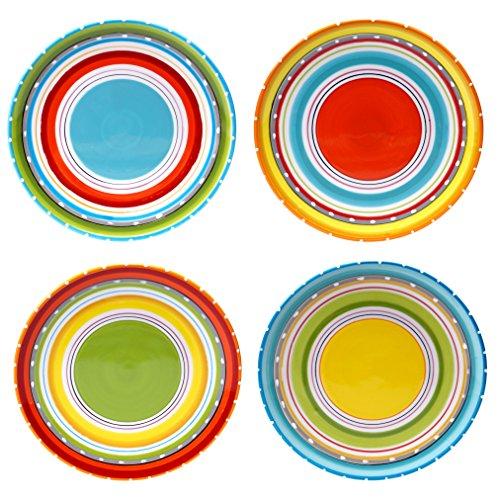- Certified International 25626SET/4 Mariachi Salad/Dessert Plates (Set of 4), 8.75