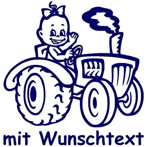 Babyaufkleber mit Name/Wunschtext - Motiv 793 (16 cm) - 20 Farben und 11 Schriftarten wählbar MY-BABY-SHOP
