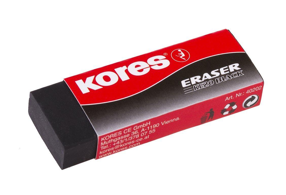 Kores RG40202 Eraser KE - 20-60 x 21 x 10 mm, Black