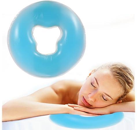 100 Piezas Coj/ín de la cubierta del masaje facial Coj/ín disponible de la cara del agujero de la cara del sal/ón SPA