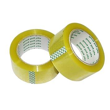 huifenfs 5 rollos Cinta de embalaje resistente sellado adhesivo industrial cintas para envío, embalaje,