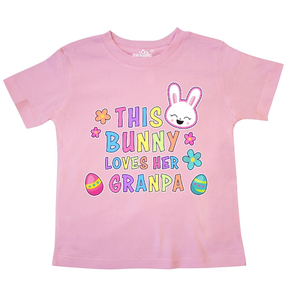 inktastic This Bunny Loves Her Granpa with Bunny Face and Toddler T-Shirt