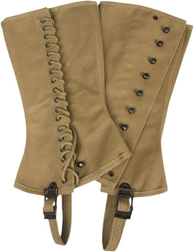 Easy 1940s Men's Fashion Guide Mil-Tec Replica WW2 US M1938 Canvas Leggings $32.57 AT vintagedancer.com