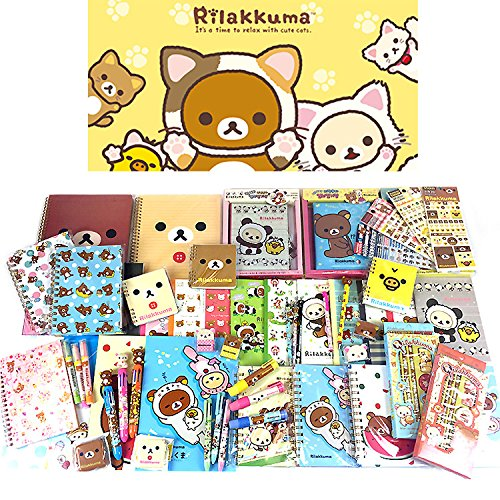 san-x-rilakkuma-assorted-school-supply-pen-pencil-note-stationary-gift-set