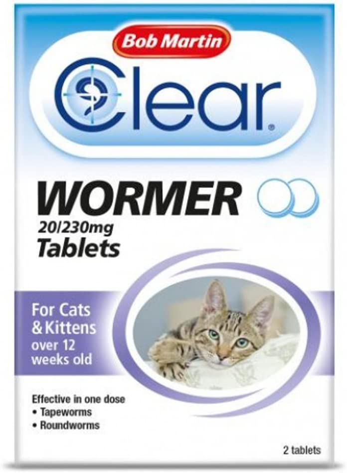 Puppies Kittens /& Cats 24 Capsules Roundworms Medication for Dogs