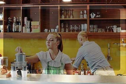 Mampara metacrilato mostrador de protección para colgar. 60 x 80 cm. 4 mm de espesor. Pantalla protectora transparente para farmacias, oficinas, bares, hostelería, estancos, tiendas alimentación: Amazon.es: Oficina y papelería