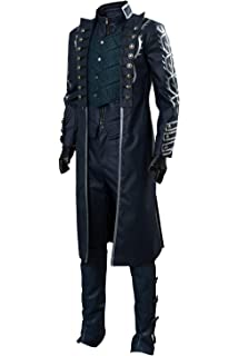 Devil May Cry 3 Vergil Cosplay Costumes Clothing Full Sets Adult Men Halloween