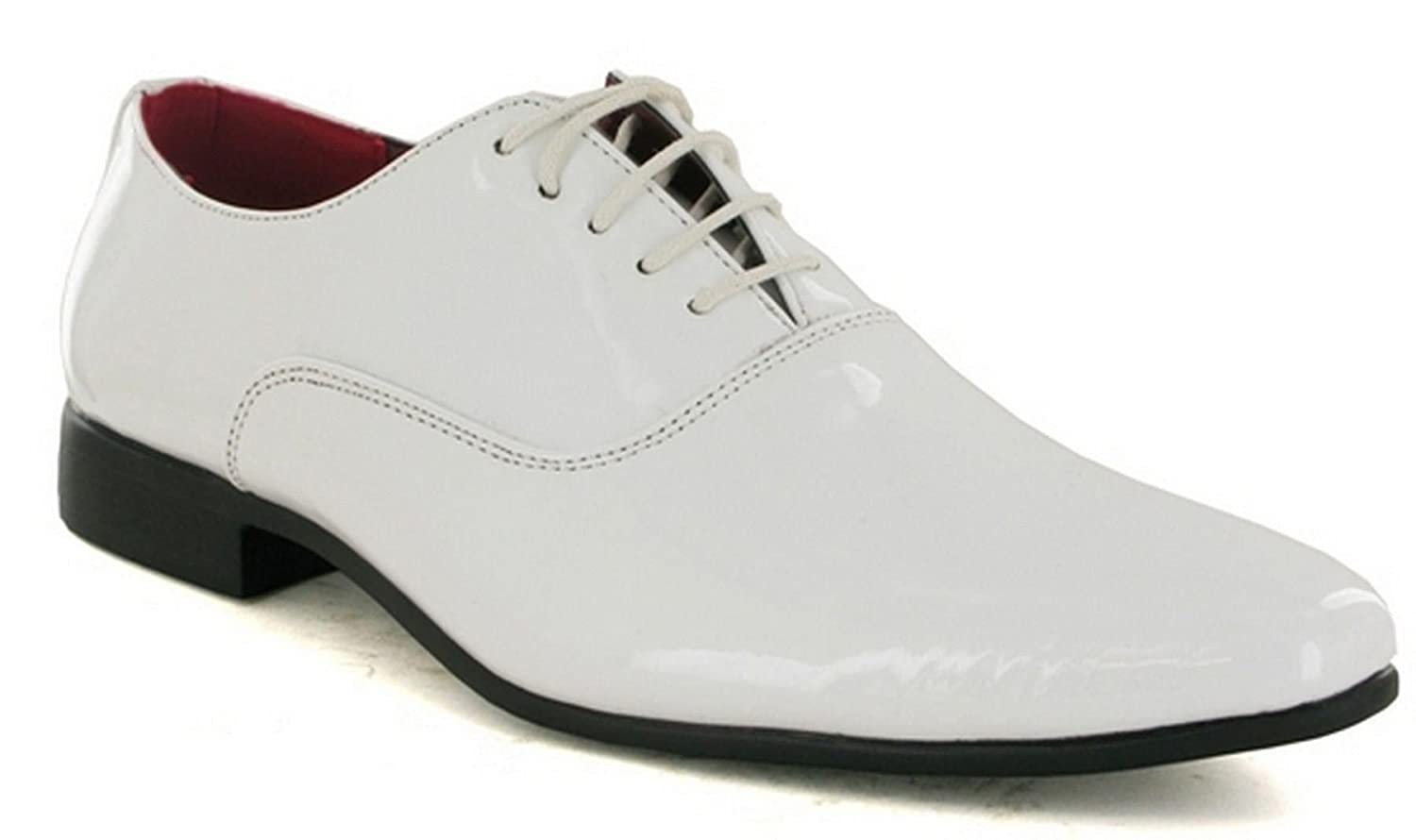 332e1810c7b theonlineshoeshop Mens New Shiny Patent Smart Lace Up Wedding Formal  Pointed Oxford Shoes Size