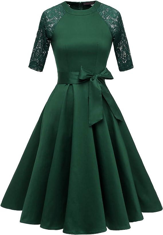 Vintage Red Dresses | Valentines Day Dresses, Outfits, Lingerie DRESSTELLS Womens Vintage 50s Retro Rockabilly Cocktail 3/4 Sleeves A-line Prom Party Dress $29.99 AT vintagedancer.com
