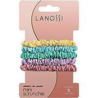 Mini Scrunchie Candy Color - Pacote com 6 Unidades, Lanossi Beauty & Care, Tons Pastéis