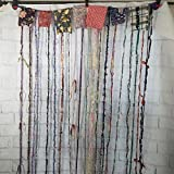Cheap Hippie Gypsy Hanging Beaded Curtain, Room Divider, Door Curtain, Custom Made, Yarn and Recycled Materials