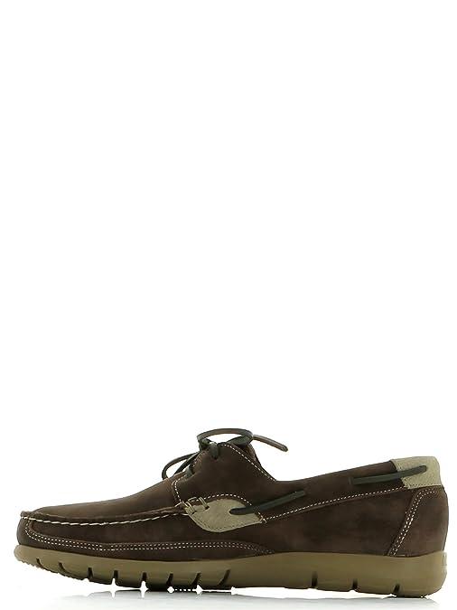 Callaghan 81200 Sun - Zapato náutico para hombre (45, Marrón)