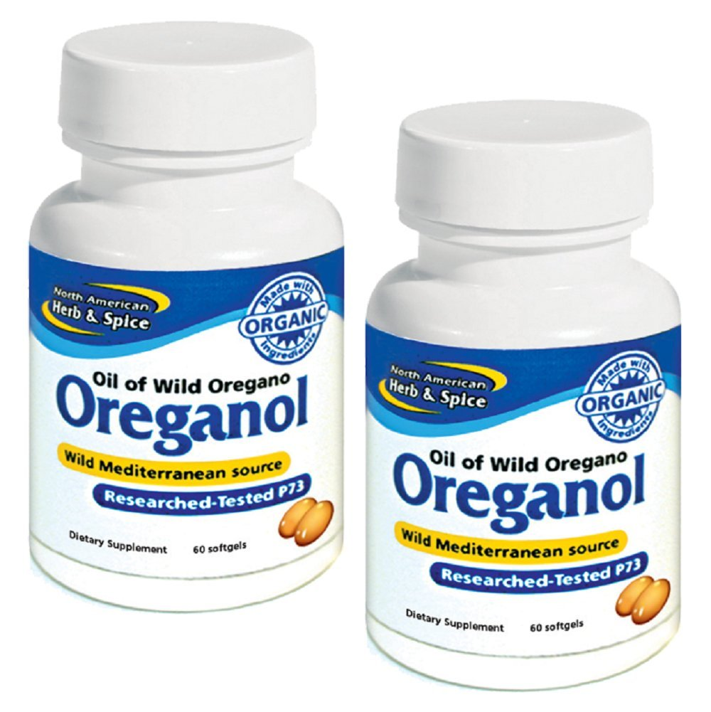North American Herb and Spice: Natural Oreganol Dieaty Supplement Capsules, 60 count (Pack of 2)