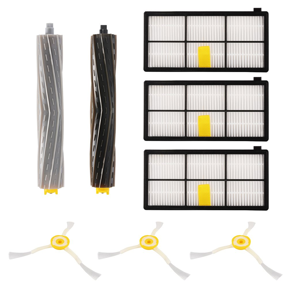 XCSOURCE 8PCS Accessories for iRobot Roomba 800/900 Series, 880/860/870/871/980/990 Vacuum Cleaning Robots Replenishment Parts Spare Brushes Kit HS965