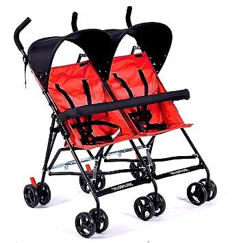 CHEERALL Cochecito Doble Cochecitos Dobles Ligeros Cochecito Plegable para Paraguas de bebé con reposabrazos Desmontables para niños de 6 Meses a 4 años ...