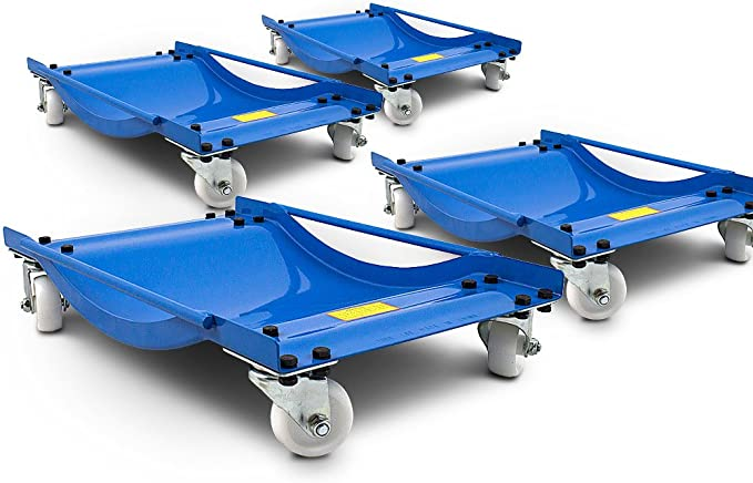 Ms Point Bituxx 4 Stück Rangierhilfe Für Pkw Auto Rangierroller Rangierheber Wagenheber Roller Belastbar Bis 450 Kg Pro Rangierroller Auto